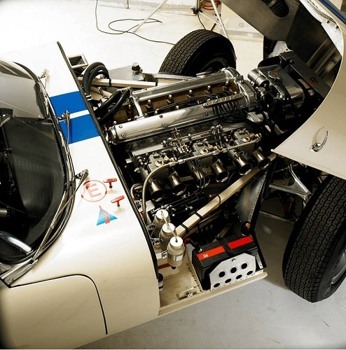 Aerial View of West Riding's Stylish Lightweight E-Type Roadster