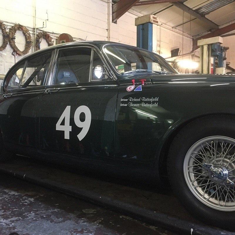 In the Stable - Restored Jaguar Mk2 Racer